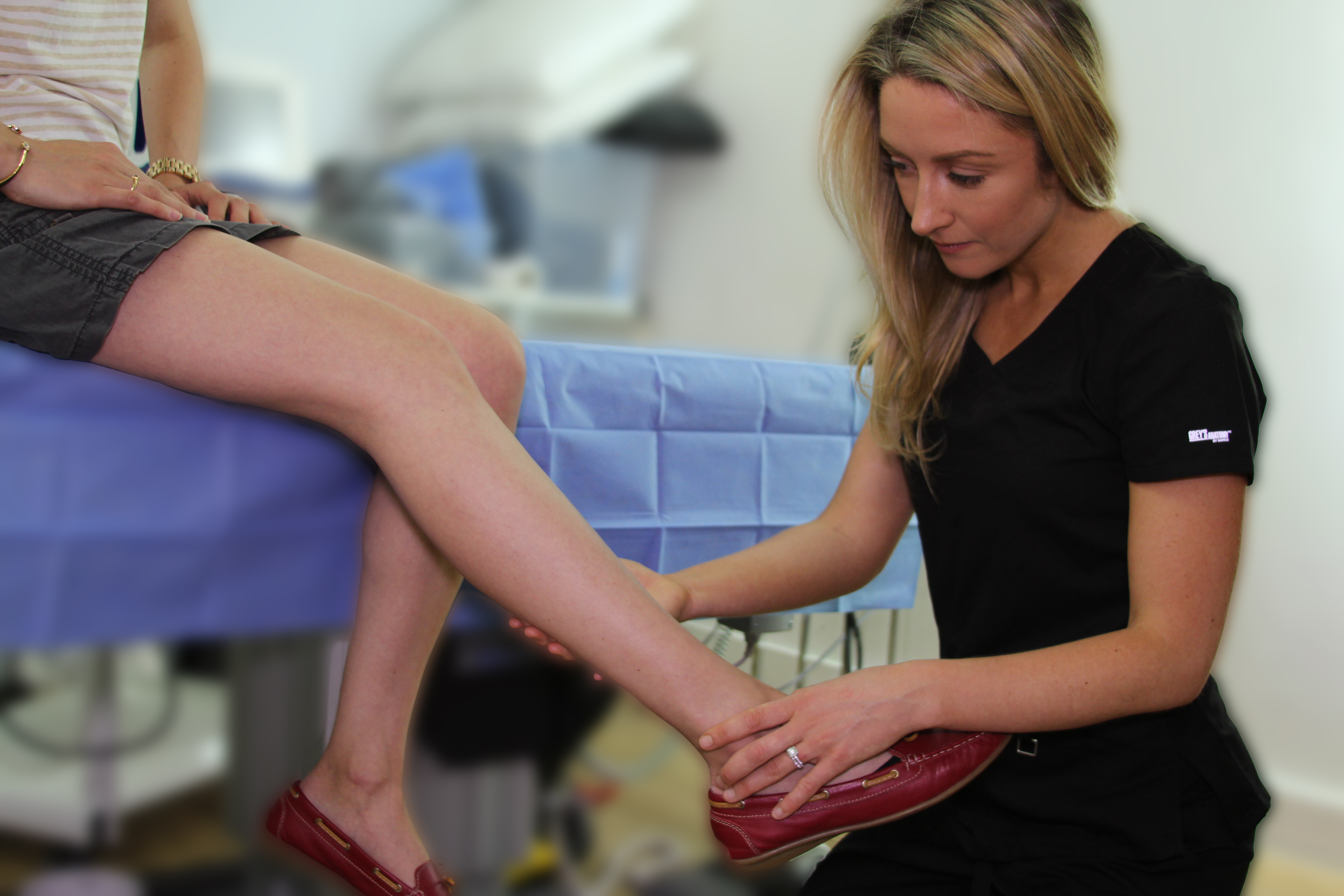 How to Prevent Spider Veins? Dr. Novak from Paramus Vein Treatment Clinic during a spider vein evaluation.