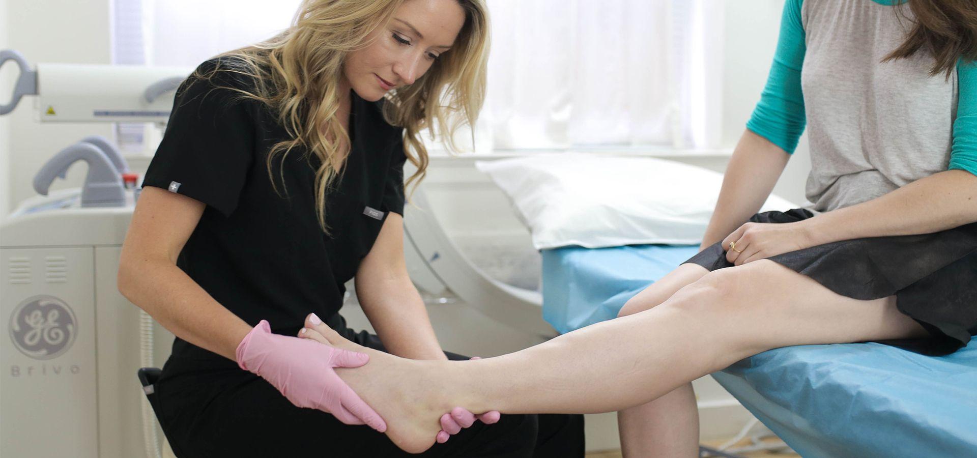 Dr. Novak examining a patient