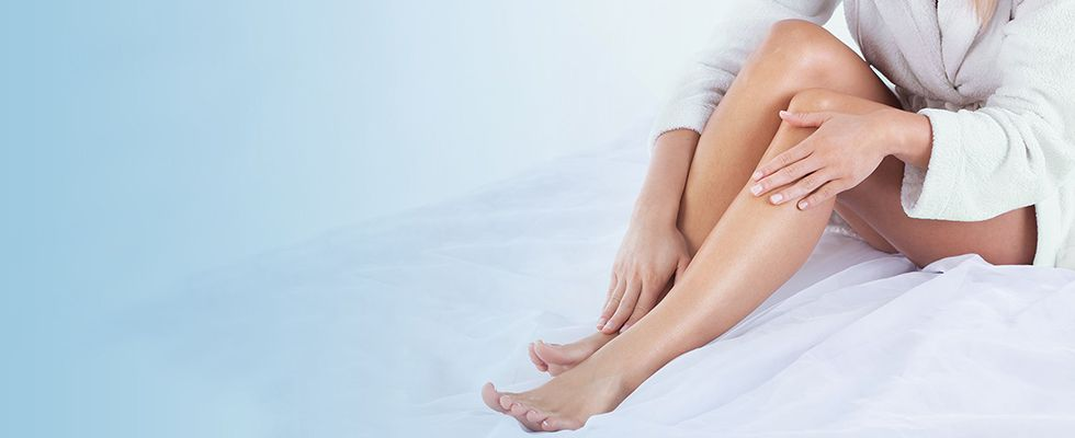Background photo of healthy legs - mobile device